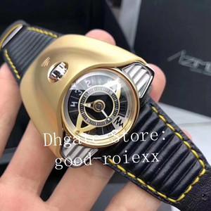Топ дизайн мужские Азимут Gran Turismo часы гоночный таймер черный Pvd стальной золотой корпус швейцарский механический Кожаный ремешок часы спортивные наручные часы