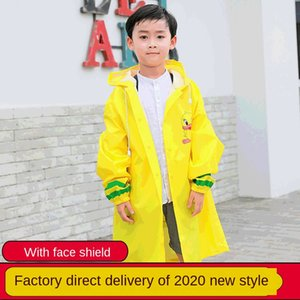 YqGOu Children's gear Protective mask rain gearcoat with protective mask cartoon boys' and girls' poncho students' outdoor suit hiking rain