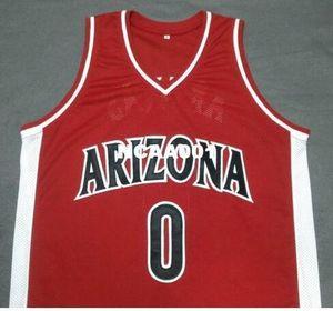 Vintage Men # 0 Gilbert Arenas Arizona Wildcats Weiß Rot Marineblau College-Weinlese-Jersey-Größe S-4XL oder benutzerdefinierten beliebigen Namen oder Nummer Jersey