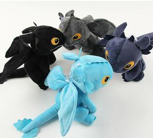 4 Color 20cm (7.9inch) Cómo entrenar a tu dragón regalo muñeca de la felpa 2019 Nueva furia de la noche sin dientes del dragón de acción Juguetes Figuras de niños