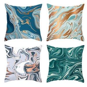 Fundas de piel de colores de marca de agua Hermosa Cojín Funda de almohada imprimió la cubierta de poliéster melocotón para la decoración del hogar