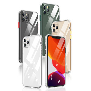 High Quality TPU Clear Case with Colorful Removable Button Durable Cover For Iphone 11 11PRO Max Sumsung S20 Iphone XR Five Colors Optional