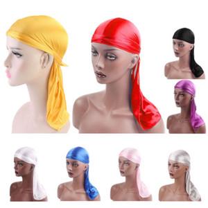 Lenço Headband pirata Cap Mulheres Hat Liso Nylon Cap Silk Cores sólidas