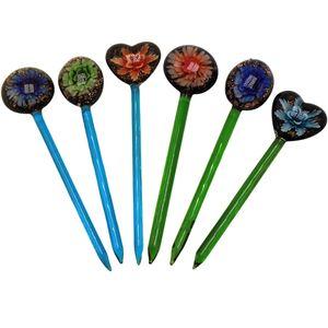 Venta al por mayor Premium Glass Dabbler 133mm Cera Dab Tool Colorido Grueso Pyrex Dabber Herramientas Quartz Banger Nails Glass Bong Tool