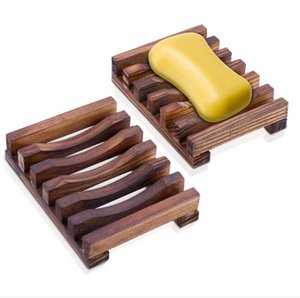 50pcs Natural Wooden Bamboo Soap Dish Tray Holder Storage Soap Rack Plate Box Container for Bath Shower Plate Bathroom #238611