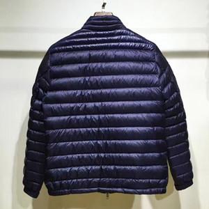 Осень и зима мужские куртки Дизайнерские Стенд Воротник Свет высокого качества Роскошный белый гусь пуховик теплый пуховики CG125