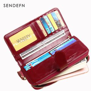 Portafoglio Donna SENDEFN caldo di vendita di marca in pelle femminile borsa lunghi della signora Clutch Money Bag Zipper Coin Purse Carteira Feminina 8002-69 V191114