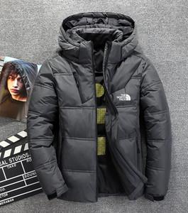O norte Homens Inverno jaquetas Parka quente para baixo casacos hoodies Soft shell Hat ski grossa exterior outerwear rosto roupa masculina Bomber jacket