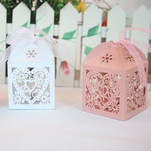 Bonbonnières De Mariage Décoration Faveurs Boîte À Cadeaux Amour Coeur Creux Titulaires De Douche Faveur De Douche Enveloppent Sacs de Fête Carton Papier Fournitures