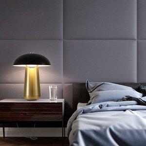 Modern Fungo Black Table Lamp Fashion Villa Hotel Home Classic Metal Desk Lamp Bedroom Light TA084