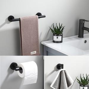 Tuqiu 블랙 수건 걸이, 종이 홀더, 수건 바, 로브 후크 욕실 하드웨어 304 개 스테인레스 스틸 욕실 액세서리를 설정