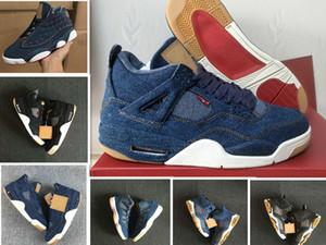 Scarpe da basket uomo 4 6 11 13 Denim LS Travis Uomo Nero Jeans blu 4s 11s 1s 13s Scarpe da ginnastica sportive da ginnastica US 7-13
