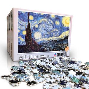 Mehrere Arten Mini-Bilderrätsel 1000 Stück Holz Montage Puzzles Spielzeug für Erwachsene, Kinder, Kinder-Spiele Bildungs-Spielzeug