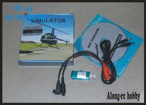 Envío gratis modelo de avión RC parte 8 en 1 cable simulador de vuelo USB Dongle para JR Futaba WFLY Walkera (tiene reflejo XTR G5 aerofly)
