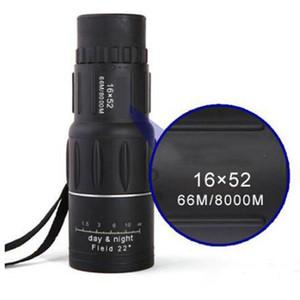 16 × 52 تكبير التركيز احادي العين مناظير البصرية عدسة تلسكوب يوم للرؤية الليلية telescopio Binoculares للصيد في الهواء الطلق