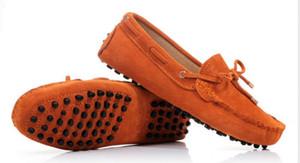 nova 9 cores Mens Primavera / Outono Genuine camurça respirável Mocassins Condução Shoes preguiçoso Calçados Masculinos sapatos de condução L38