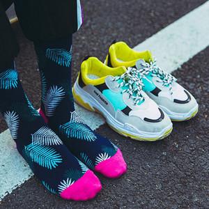 20190414 Bird Leaf calcetines de algodón para hombres