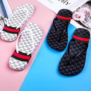 Full Letter Print Flip Flops Women Girls Slippers Summer Flat Slide Sandals Fashion Platform Slipper Bathing Beach Shoes Design Flip Flops