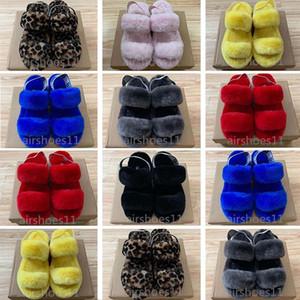 2020 Женская Новая тапочка Oh Yeah Fur Трусы Шлепанцы Fur Тапочки Женская обувь Pantoufle Сандалии Главная Повседневная обувь Размер 35-43