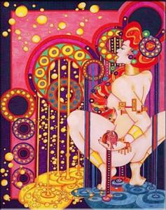 GUSTAV KLIMT Ölgemälde auf Leinwand Klassische Kunst-Wanddekor Abstrakt Wand-Deko Wohnkultur Handbemalte HD Print 191016