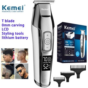 KEMEI KM-5027 Hair Clippers for Men Hair Beard Trimmer Rechargeable Barber Hair Grooming Kit with 3 Guide Combs homeindustry vOLhD