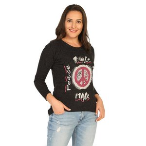 If the Pre-Printed Blouse Black Female B 2064 Ship from Turkey 202