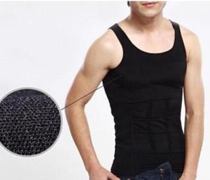 Männer Körper-Former Bauchfett Unterwäsche-Weste-Hemd-Korsett-Compression Bodybuilding-Unterwäsche