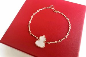 White Red Gourd Bracelet S925 Sterling Silver Twist Chain Gourd Bracelet Good Luck Women Fine Jewelry Fashion Accessories
