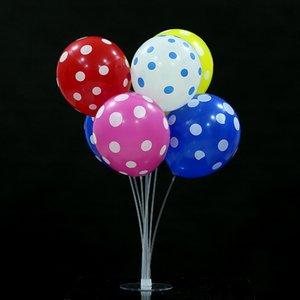Tabela balão flutuando Bracket Transparente Rod Base de arrasto Cena Decoração Hotel Banquet Set Bracket Decoração EEA1678