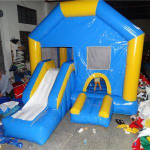 Children slide inflatable playground big trampolines indoor playground equipment