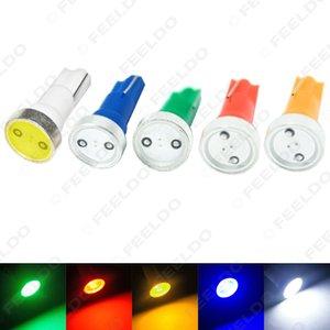 50pcs Super Blanc T5 Puissance 1W 1LED Voiture LED Lumière Wedge Tableau De Bord Lumière Plaque D'immatriculation Lumière # 3346