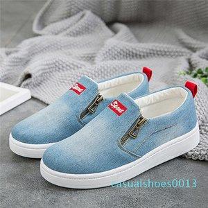2019 Nouveau printemps Utumn chaussures plates pour les femmes Denim Plateau plat classique de la mode Chaussures plates Casual Chaussures de sport Chaussures D10