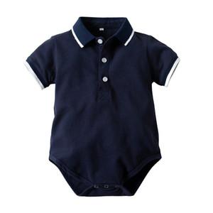Pagliaccetto unisex manica corta Tuta da bambino Poli Collare Pagliaccetto neonato Pagliaccetto estivo per bambina da 3m-24m