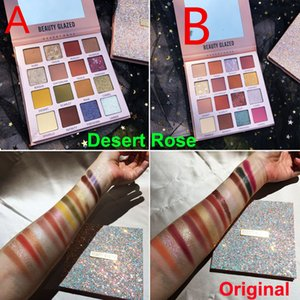 Makeup Beauty Glazed Eyeshadow Desert Rose Eye shadow palette 16 Colors Nude Matte Shiny Pearly Eyeshadow Charming Cosmetics Original Brand