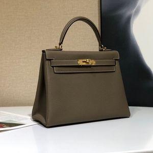 Fashion Top handgenähten importierten deutschen TOGO Kalbsleder Reihe Designer Luxus-Einkaufstasche Damen Handtasche Brieftasche Elefant grau DHL