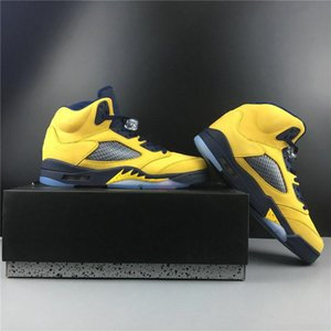 2020 Hot Special Edition 5 SP Michigan Inspire Man Designer Shoes Inspire Amarillo College Navy Amarillo Fashion Sneakers Best Quality