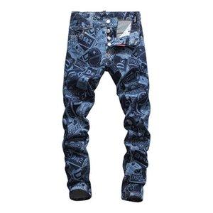 New Fashion designer jeans mens denim trousers Hole High Quality fashion pants male pants Fit Washed Motocycle jeans
