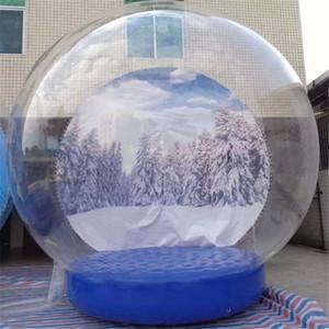 3M Açık Dev Noel Şişme Snow Globe Kabarcık Çadır, Şişme İnsan Boyut Snow Globe İçin yılbaşı Reklamcılık ve Halkla