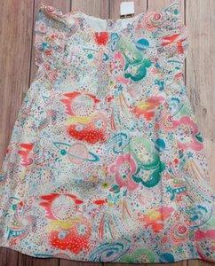Kız 2020 BP Stil Yeni Yaz Evren Desen Bebek Kız Pembe Elbise Butik Kiraz Markası Çiçek Desen Elbise