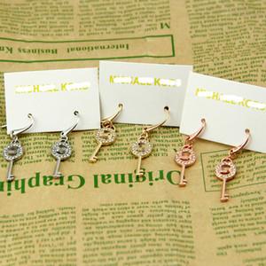 New York Stylist Ohrring-Frauen pflaster Key Tropfen-Ohrring, Gold, Silber Rose Gold Key Charme baumelt bestes Weihnachtsgeschenk für Mädchen