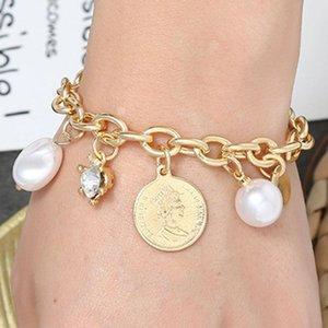 Breloques Bracelets ouverts Bracelets personnalité sauvage beauté tête Bracelet Femme Charm Bracelets Accessoires Bijoux Europe et Amérique