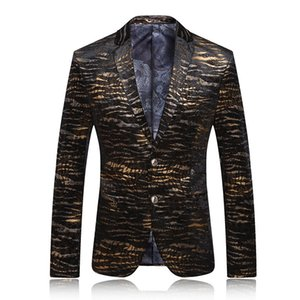 Leisure Time Printing Suit Man Personality Korean Version Of The Tide Shop Atmosphere Male Fund Will Code Single Row Two Button Small Suit