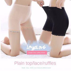 Super Value 1-3 Frauen Spitze Ice Silk Sicherheitshosen Spitze der Sicherheitshosen drei-Punkt-Leggings Shorts Sommer dünnes anti-Licht