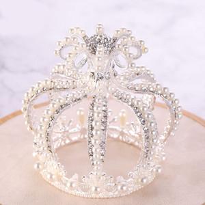 FORSEVEN Parlayan Kristal Simüle İnciler Çelenkler Taçlar Bantlar Prenses Diadem Gelin Noiva Düğün Dekoratif Takı