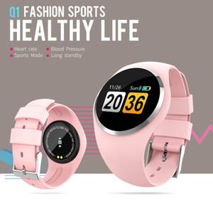 Q1 블루투스 소녀 스마트 시계 패션 레이디 여성 심박수 모니터 피트니스 트래커 IOS 안드로이드 폰을위한 Smartwatch APP