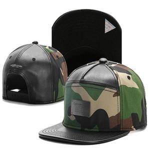 Cayler Sons deri kamuflaj metal logosu Beyzbol Caps Hip Hop Şapka Açık Gorras HipHop adam Kemik Ayarlanabilir Snapback Şapka mens