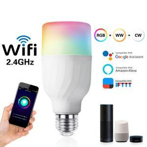 E27 Smart WiFi Ampoule LED sans fil Dimmable Ampoule 7W RGBCW Alexa / Google Accueil APP Contrôle multicolore Changement Party Night Light