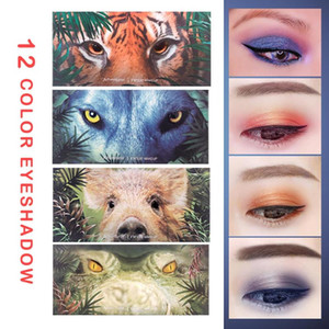 12 Color Animal Eyeshadow Perfect Eyeshadow Diary Explorer Makeup Tiger pig wolf croco Shimmer Palette Cosmetics