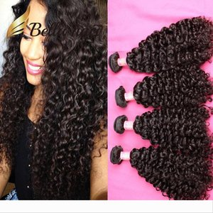 Bella Hair? 4pcs 11A Virgin Hair Bundle Brazilian Indian Peruvian Unprocessed Human Hair Weave Curly Wave Natural Color Can be dyed to 613
