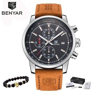 BENYAR Relógios Homens Luxo marca de relógio de quartzo Moda Cronógrafo Reloj Hombre Esporte Relógio Masculino horas Relogio Masculino V191115